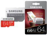 Карта памяти Samsung MicroSDXC EVO Plus + SD адаптер MB-MC64GA/RU(class 10)