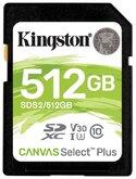 Карта памяти Kingston SDS2 512 GB, чтение: 100 MB/s, запись: 85 MB/s