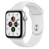 Часы Apple Watch SE GPS 44мм Aluminum Case with Sport Band, серебристый/белый