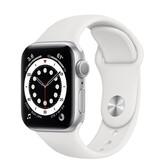 Часы Apple Watch Series 6 GPS 40мм Aluminum Case with Sport Band, серебристый/белый