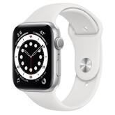 Часы Apple Watch Series 6 GPS 44мм Aluminum Case with Sport Band, серебристый/белый