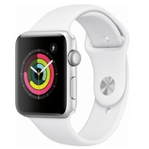 Часы Apple Watch Series 3 42mm,Silver Aluminum Case with White Sport Band