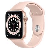Часы Apple Watch Series 6 GPS 44мм Aluminum Case with Sport Band, золотистый/розовый песок