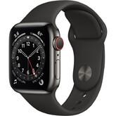 Часы Apple Watch Series 6 GPS + Cellular 44мм Aluminum Case with Sport Band, серый космос/черный