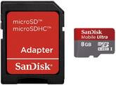 Карта памяти SanDisk (SDSDQY-008G-U46A) стандарт Ultra MicroSDHC 8GB Class 6 + adapter