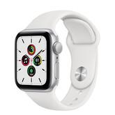 Часы Apple Watch SE GPS 40мм Aluminum Case with Sport Band, серебристый/белый
