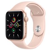 Часы Apple Watch SE GPS 44мм Aluminum Case with Sport Band, золотистый/розовый песок