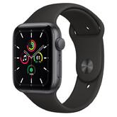 Часы Apple Watch SE GPS 44мм Aluminum Case with Sport Band, серый космос/черный