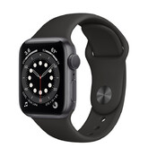 Часы Apple Watch Series 6 GPS 40мм Aluminum Case with Sport Band, серый космос/черный