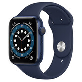 Часы Apple Watch Series 6 GPS 44мм Aluminum Case with Sport Band, синий/темный ультрамарин