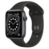 Часы Apple Watch Series 6 GPS 44мм Aluminum Case with Sport Band, серый космос/черный