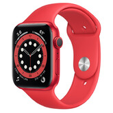 Часы Apple Watch Series 6 GPS 44мм Aluminum Case with Sport Band, (PRODUCT)RED